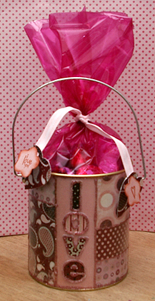 Altered Tin Treat Bucket